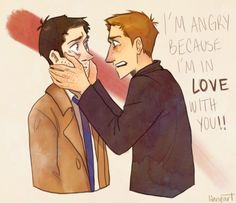 cas and dean.... I don't watch the show and this makes me happy