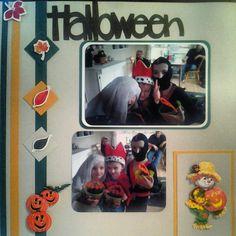 Scrapbook page halloween