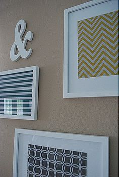 Pattern Pieces framed. Cheap and easy wall art.