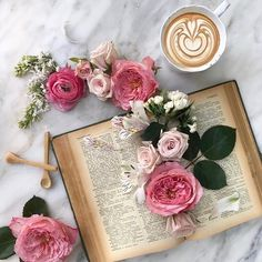 # life is a book ! 🌼 Papier Paint, Coffee Infographic, Book Flowers, Roses Book, Coffee Pictures, Coffee Branding, Flower Tea, Coffee And Books, Coffee Cafe