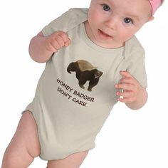 Honey Badger Dont Care Red Infant Organic Creeper