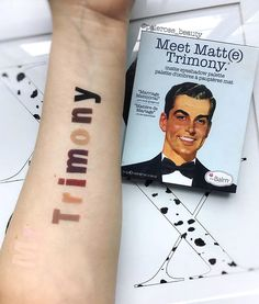 How cute (and creative) are these swatches of our Meet Matt(e)Trimony Palette created by @palerose_beauty?!  From top to bottom: Matt Ahmed, Matt Reed, Matt Evans, Matt Moskowitz, Matt Kumar, Matt Lopez, Matt Rossi, Matt Thomas and Matt Lin.