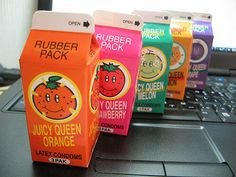 These juice box RUBBERS.
