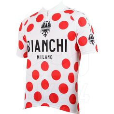 Nalini Bianchi Milano Pride Jersey - white/red polka dotted (le maillot à pois rouges) 415