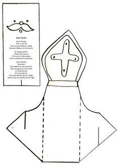 Risultati immagini per bricolage st nicolas Preschool, Activities, Blog, Xmas, Christmas, Advent, French, Education, Crochet