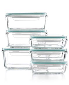 Martha Stewart Collection Food Storage Container Set, 12 Piece Glass - Pantry Organization - for the home - Macy's