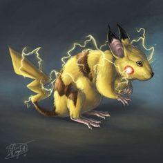 Pikachu by ReneCampbellArt