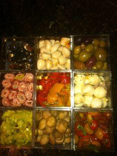 Open a few jars and fill the Prepster for a quick and easy antipasto tray.
