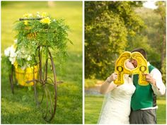 Ceremony Decor and our ultimate fan pic :) Go Ducks!