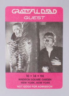 c874024df97 GRATEFUL DEAD BACKSTAGE PASS October 14th