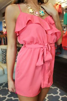 Ruffle Romper with Waist Sash | uoionline.com: Women's Clothing Boutique