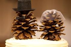 Hilarious pinecone cake topper-- cute for a winter wedding, or just because you do it funky-like.
