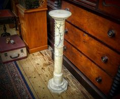 GA1031   -   Victorian Marble Plant Stand c1870