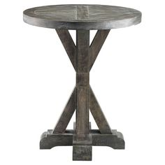 Showcasing a solid wood frame and weathered gray finish, this chic end table is a perfect addition to your entryway or den.       Produ...