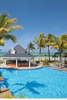 Le Palmier Bar and Restaurant at Heritage Le Telfair Mauritius #Restaurant #Wanderlust #BeachRestaurant