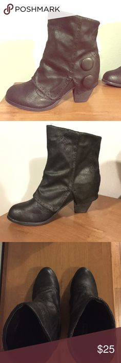 Black booties Faux leather/suede black booties. Never worn. NWOT Not Rated Shoes Ankle Boots & Booties