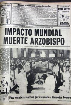 Reacciones del mundo ante muerte de Monseñor Romero.