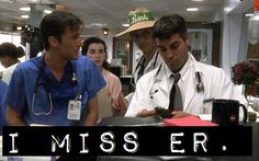 Drs John Carter, Mark Green & Doug Ross! and Nurse Carol Hathaway-Ross.