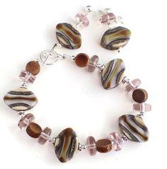 Raku Candy Bracelet and Earrings http://lottiestrinkets.com/game-set-match/raku-candy-bracelet-and-earrings