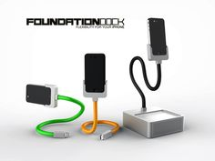 $30 Foundation Dock - The new home for your iPhone by World of Simple Design-Brandon Yamawaki, via Kickstarter.