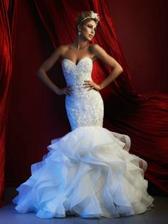 Allure C367 Strapless Wedding Dress