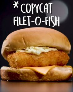 Copycat Filet-O-Fish -Tasty - Food Videos And Recipes Fish Dishes, Seafood Dishes, Seafood Recipes, Cooking Recipes, Cooking Fails, Cooking Pasta, Cooking Steak, Veg Recipes, Steak Recipes