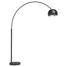 Moderne booglamp van metaal. Kleur: zwart. 220 cm hoog. Energieklasse A++. E27 fitting. #booglamp #kwantumstijl