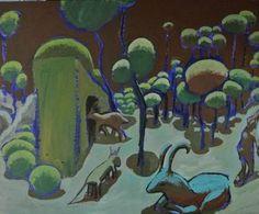 "Saatchi Art Artist Eric Le Hénand; Painting, ""Ovale"" #art 29.1 H x 35.4 W $860"