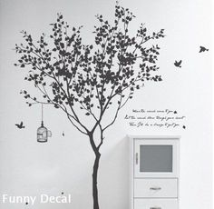 I don't like the writing, but the rest is dope. Tree----Vinyl Wall Decal Tree Wall Decals Wall stickers Nursery wall decal children wall decals ( Welcome to custom)