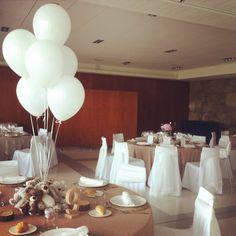 Centro de mesa infantil para bodas.