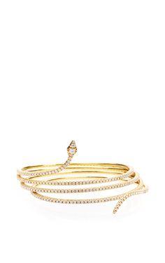 Coiled Temptress Bracelet by Sidney Garber for Preorder on Moda Operandi