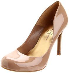 Jessica Simpson Women's Calie Pump,Nude Patent,8.5 M US