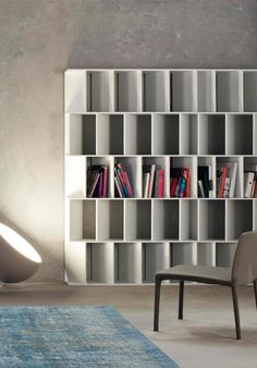 FUN - Designer Shelving from Bonaldo ✓ all information ✓ high-resolution images ✓ CADs ✓ catalogues ✓ contact information ✓ find your nearest. Cool Bookshelves, Bookcase, Luxury Furniture, Furniture Design, Furniture Companies, Showroom, Shelving, Designer, Cabinet
