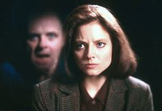 """""""The Silence of the Lambs"""" by Jonathan Demme (1991) - Anthony Hopkins & Jodie Foster Creepy but good!"""