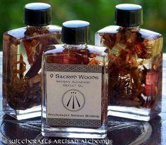 NINE SACRED WOODS Artisan Alchemist™ Specialty Occult Oil for Solar Sabbat Rites, Celtic Druid Magic, includes Oak, Ash, Thorn, Rowan, More
