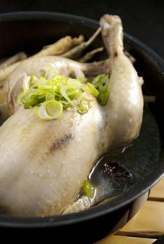 Korean Food Recipe: Sam gye tang 삼계탕 (Chicken Soup)