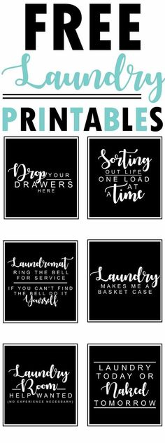 Free Laundry Room Printables-funny sayings and quotes for the laundry room-www.themount...