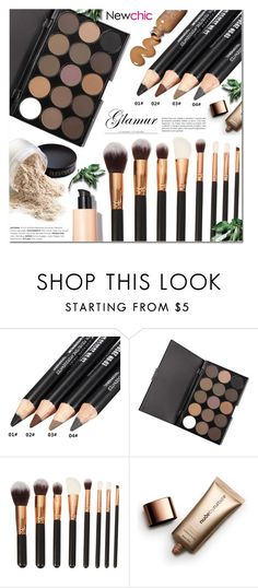 """""""Newchic 27"""" by anyasdesigns ❤ liked on Polyvore featuring beauty, Nude by Nature, Beauty, makeup, eyemakeup and beautyset"""