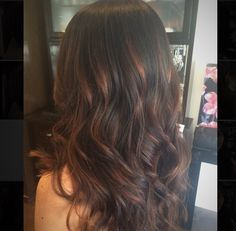 Brunette balayage, haircut, and blowout style by Bella Salon of Naples in long Beach, Ca. Baliage, balyage, great hair, gorgeous hair, hair salon, blow dry.