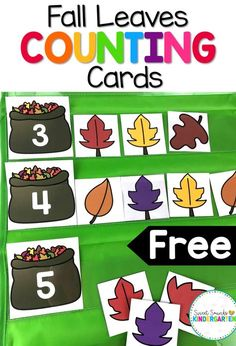 Look for some fun fall math activities? This fall alphabet center is great for practicing counting! Perfect for your kindergarten or grade one students. #fall #centers #counting