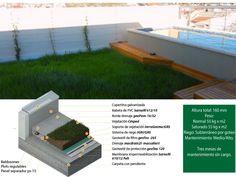 esquema techo verde multicapa greenB/160 grama Outdoor Sofa, Outdoor Furniture, Outdoor Decor, Architecture, Home Decor, Lawn, Green Roofs, Irrigation, Arquitetura