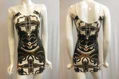 BAROQUE PRINTING DRESS / MADE IN USA / ANDR