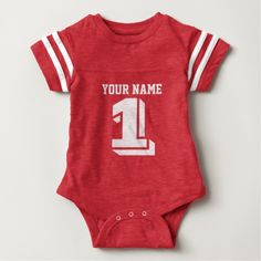 Shop Personalized Football Jersey Baby Boy Custom Text Baby Bodysuit created by cutencomfy. Personalize it with photos & text or purchase as is! Football Onesie, Blue Football, Football Jerseys, Football Birthday, Football Season, Personalized Football, Personalized Baby Clothes, Personalized Gifts, Baby Outfits