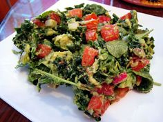 One of my favorite kale salads and super easy too!!!  And I love getting my hands messy on this one :)