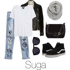 Airport Fashion: Suga by btsoutfits on Polyvore featuring mode, MANGO, River Island, Vans, Halogen and Le Specs