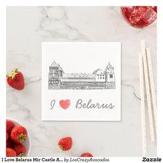 I Love Belarus Mir Castle Architecture Мирский Napkins Party Items, Napkins, Castle, Architecture, My Love, Party Stuff, Arquitetura, Party Supplies, Towels