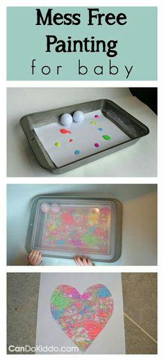 Atividade referente a motricidade da criança, realizada com uma forma, papel, tinta guache e bolinhas de isopor.
