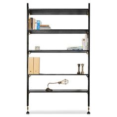 "Nuevo Theo Wood 48""""L X 12.25""""W Modular Shelving in Black"