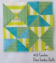 Elven Garden Quilts: Block #20 Caroline Tutorial - Farmer's Wife Sew Along