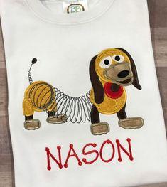 Toy Story Slinky Dog applique shirt Disney Andy s room shirt toy story land  girls or boys shirt 9d5af60633f